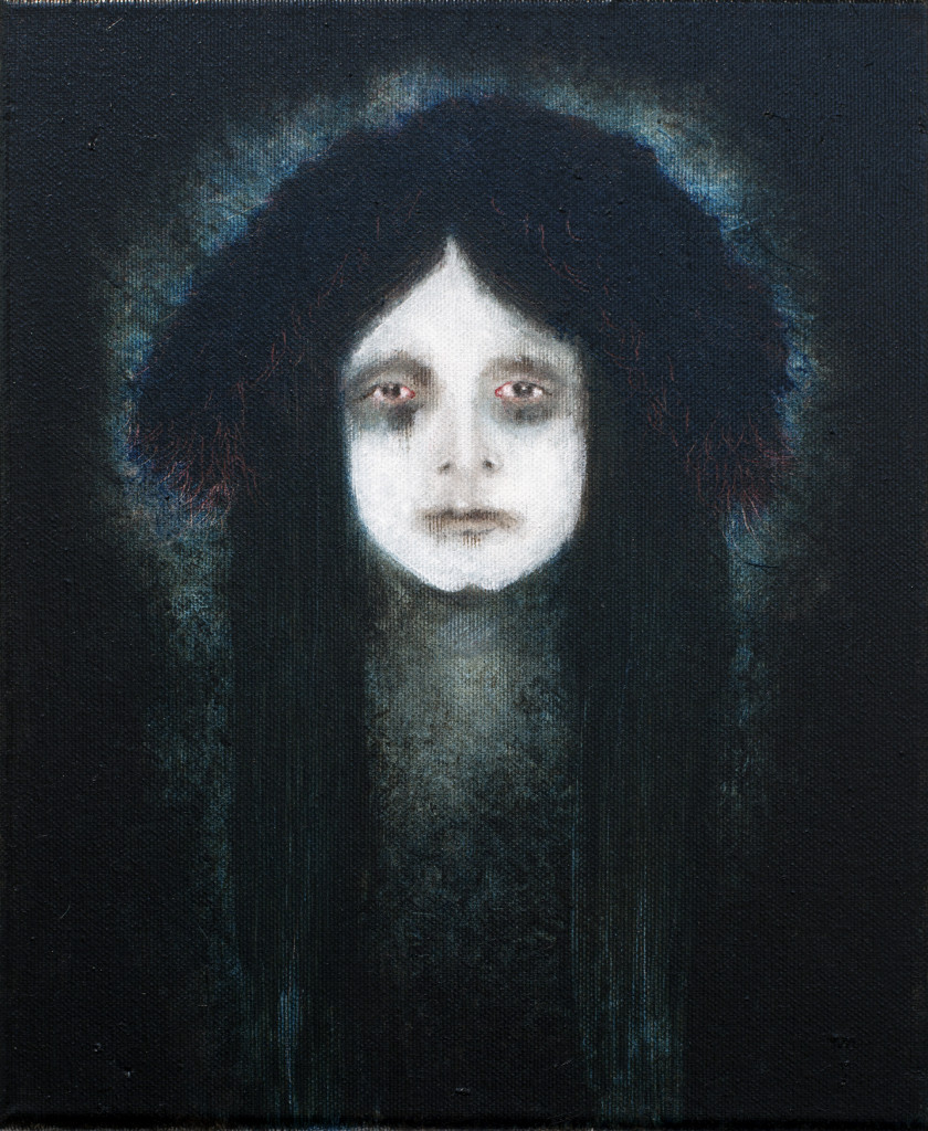 GRIEF, 30×24 cm, oil and acrylic on canvas