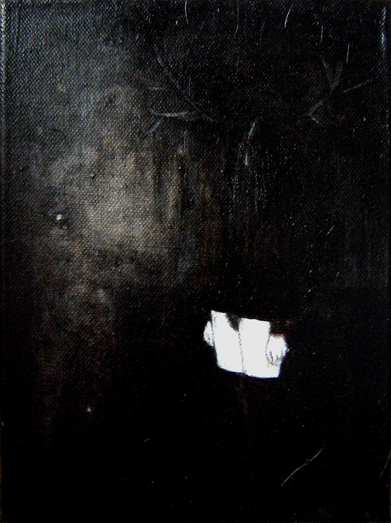 Mädchen#2, 30x24 cm, oil and acrylic on canvas, 2009 (SOLD private collection The Hague)