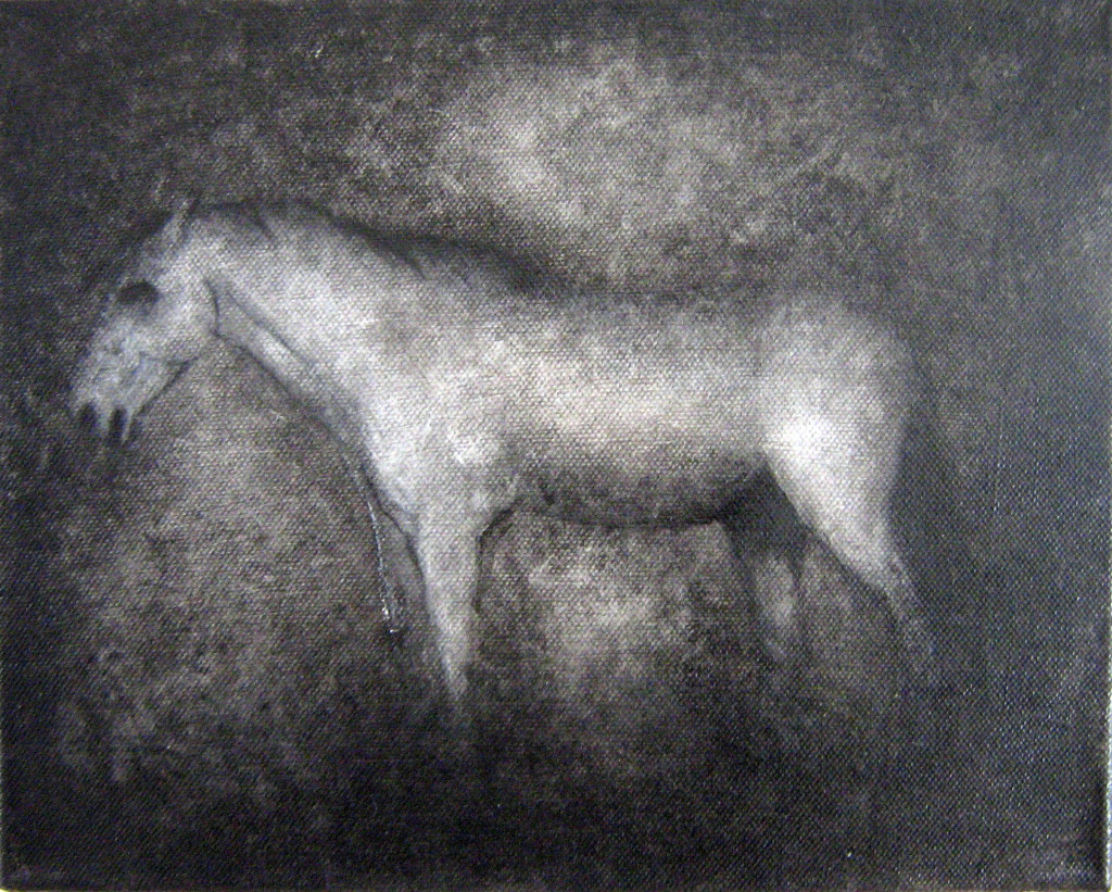 Pferd#1, oil and acrylic on canvas, 24x30 cm, 2009