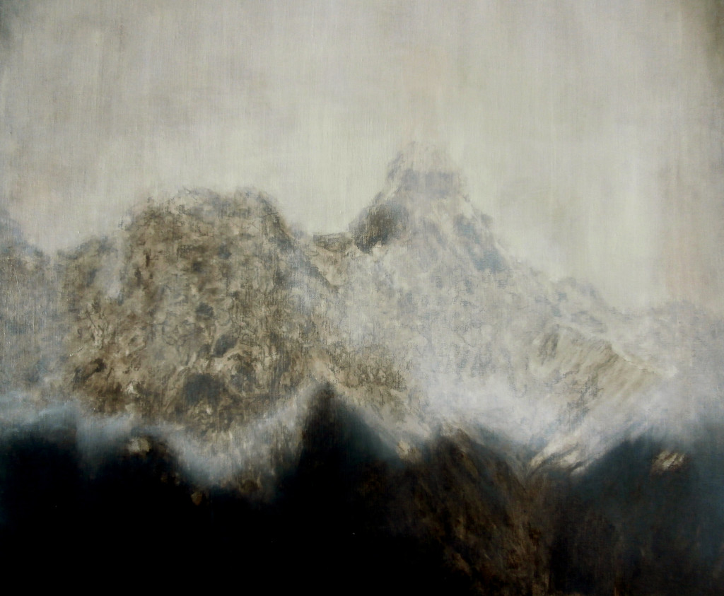Mountain#1, 70x90 cm, oil, pencil and charcoal on canvas, 2016
