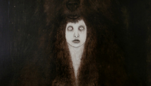 The Bear, 80x70 cm, acrylic, oil and pencil on canvas, 2011