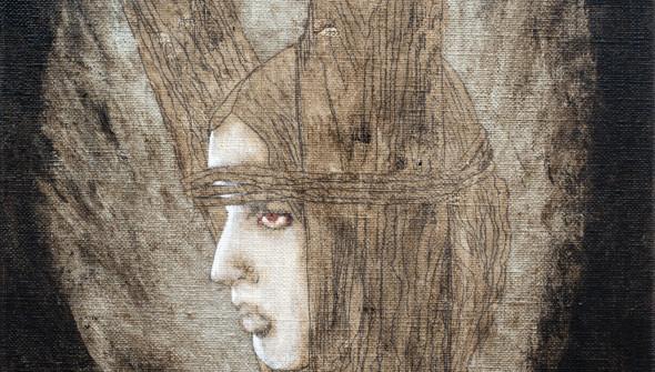 BURN, 30×24 cm, oil and acrylic on canvas