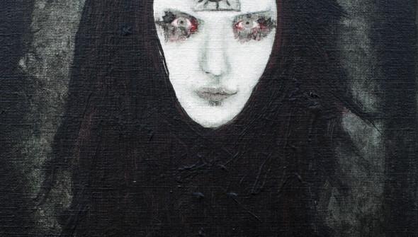 CULT, 30×24 cm, oil and acrylic on canvas