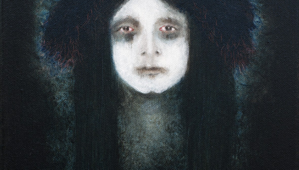 GRIEF, 30×24 cm, oil and acrylic on canvas