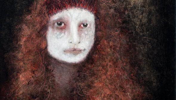 LOVE, 30×24 cm, oil and acrylic on canvas