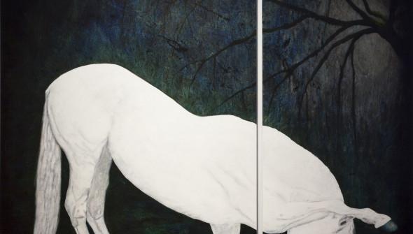 LOVE, 200×150 cm & 200×90 cm, oil and acrylic on canvas.
