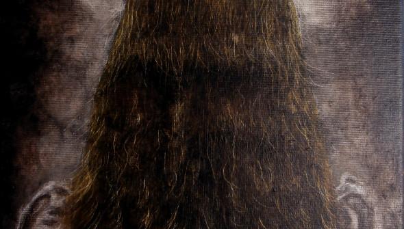 Mädchen#15, 30x24 cm, oil and acrylic on canvas, 2015