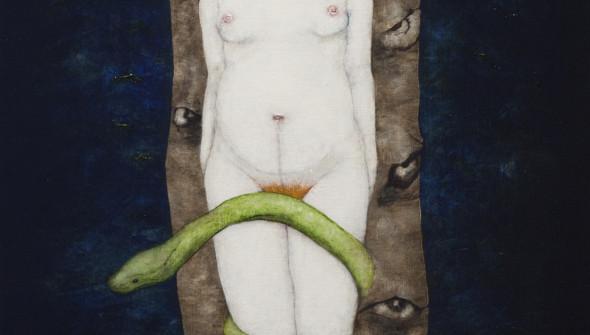PREGNANCY, 200×90 cm, oil and acrylic on canvas.