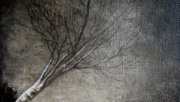 Baum#3, 24x18 cm, oil and acrylic on canvas, 2010, private collection Rotterdam
