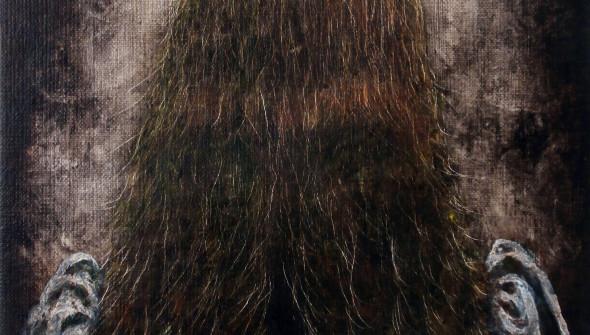 Mädchen#14, oil and acrylic on canvas, 30x24 cm, 2015