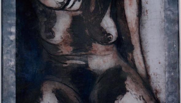NoTitle, etching, graduation work Willem de Kooning, Rotterdam, 120x90 cm, 1994, private collection Rotterdam.