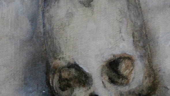 Lady and a Skull (detail)