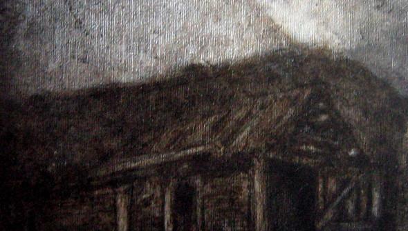 Blockhütte#2, oil and acrylic on canvas, 20x20 cm, 2009