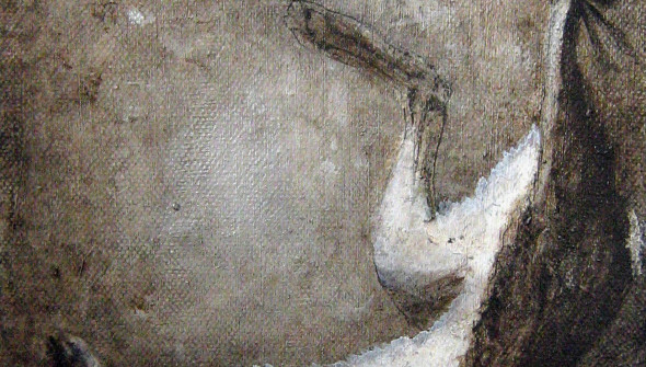 Hase#1, oil and acrylic on canvas, 24x18 cm, 2009 (SOLD private collection Rotterdam)