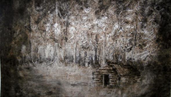 La Maison, 30×24 cm, oil and acrylic on paper, 2014