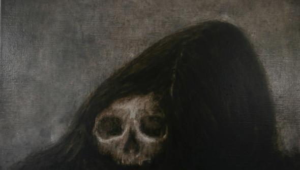 Sisters#1, 35×45 cm, oil an pencil on canvas, 2017