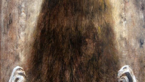 Mädchen#17, 30×24 cm, oil and acrylic on canvas, 2015.