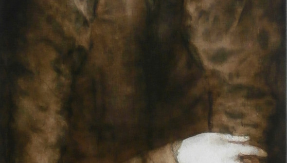 VirginForest#1, 150x50 cm, pencil, conté, charcoal and oil on canvas, 2019. Courtesy Galerie Nasty Alice, Eindhoven.